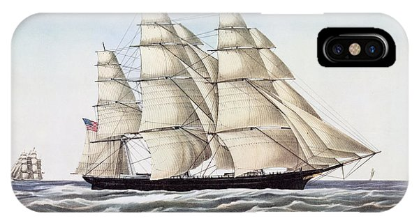 Nautical iPhone Case - The Clipper Ship Flying Cloud by Anonymous