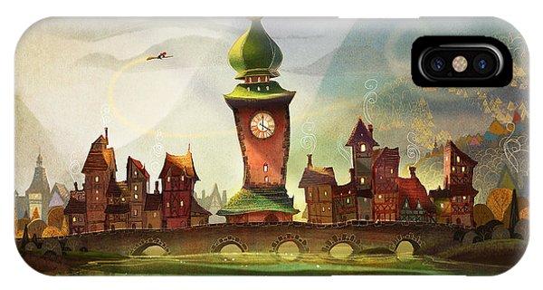 Fairy iPhone Case - The Clock Tower by Kristina Vardazaryan