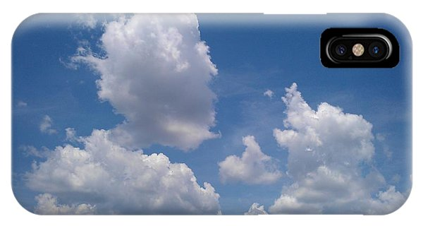 The Cloud Moustachioed Man And His Puppy Phone Case by Abhilasha Borse