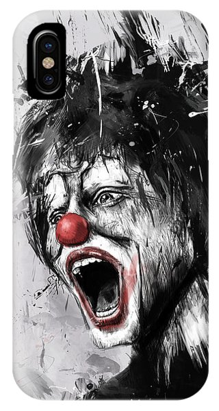 Surrealism iPhone Case - The Clown by Balazs Solti