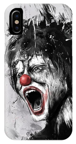 Surreal iPhone Case - The Clown by Balazs Solti