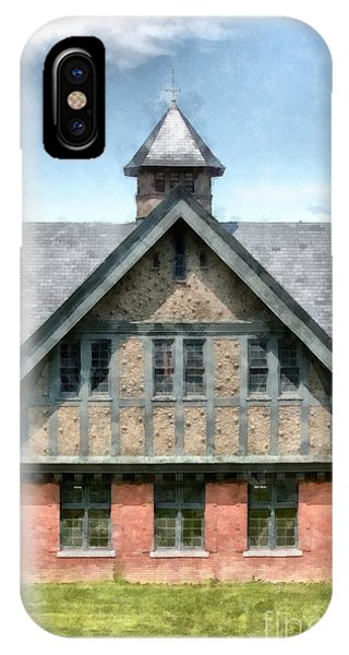 New England Barn iPhone Case - The Coach Barn At Shelburne Farms by Edward Fielding