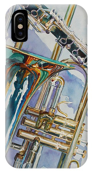 Trombone iPhone Case - The Color Of Music by Jenny Armitage