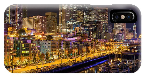 The Colors Of Night Lights In Seattle IPhone Case