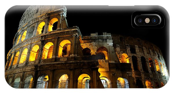The Colosseum At Night IPhone Case