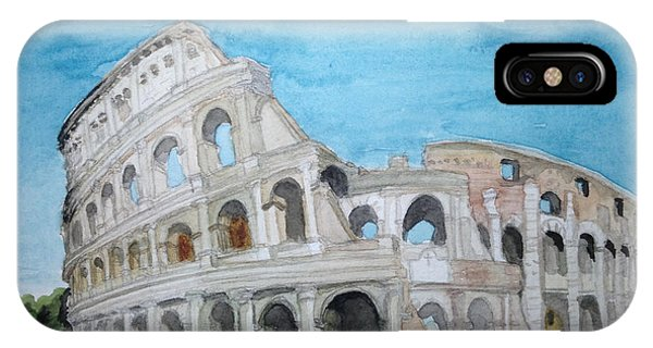 Samantha iPhone Case - The Colosseum In Rome by Samantha Boyce