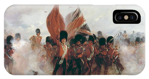 British Empire iPhone Case - The Colors Advance Of The Scots Guards At The Alma by Lady Butler