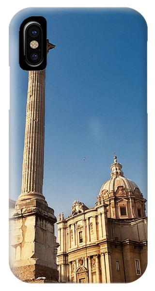 The Column Of Phocus IPhone Case
