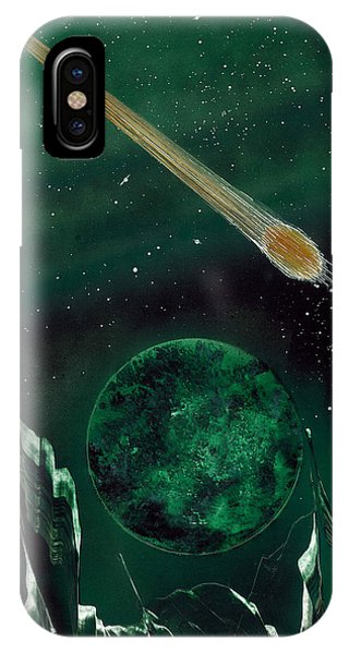 IPhone Case featuring the painting The Comet by Jason Girard