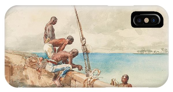 Homer iPhone Case - The Conch Divers by Winslow Homer