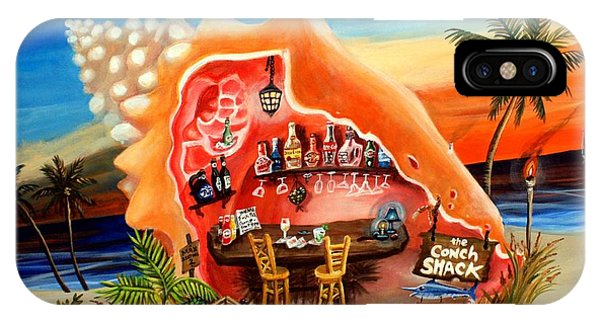 Tiki Bar iPhone Case - The Conch Shack by Abigail White
