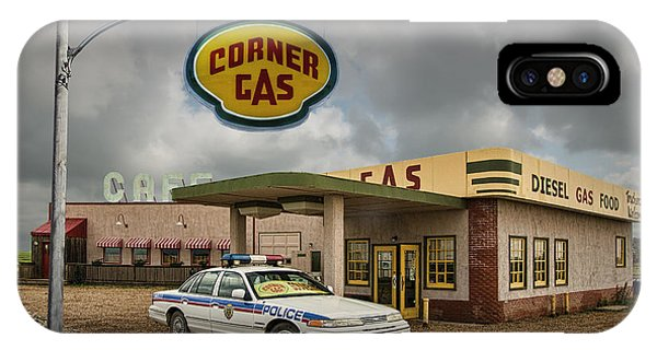 The Corner Gas Station From The Canadian Tv Sitcom IPhone Case