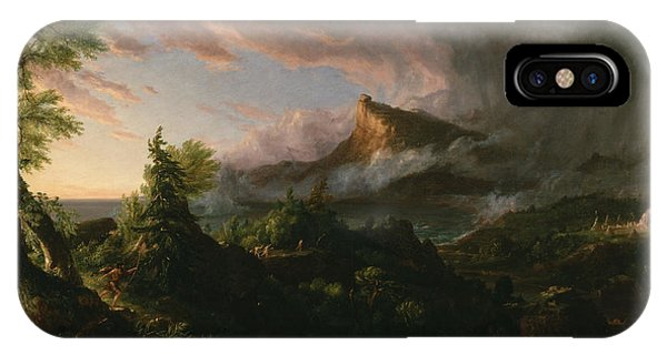 The Course Of Empire The Savage State  IPhone Case