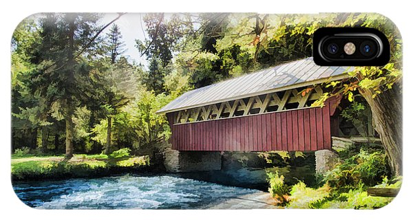 The Covered Bridge At The Red Mill IPhone Case