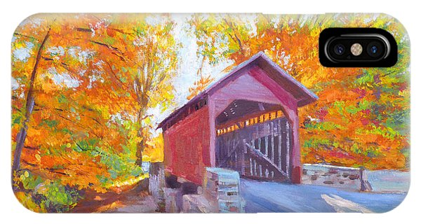 Covered Bridge iPhone Case - The Covered Bridge by David Lloyd Glover
