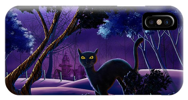 The Creepy Cat Of Ash Hills IPhone Case