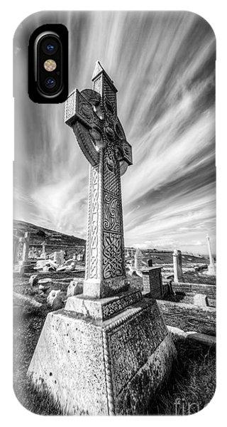 Celtics iPhone Case - The Cross by Adrian Evans