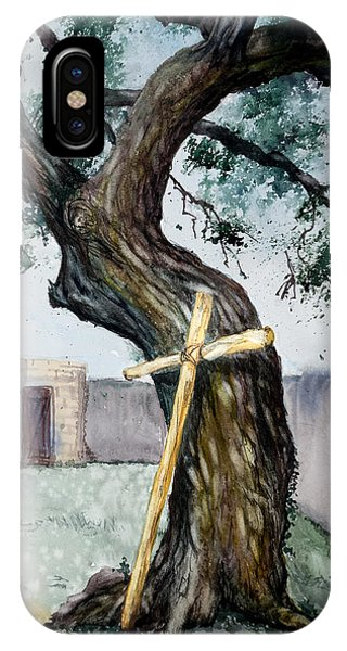 Da216 The Cross And The Tree By Daniel Adams IPhone Case