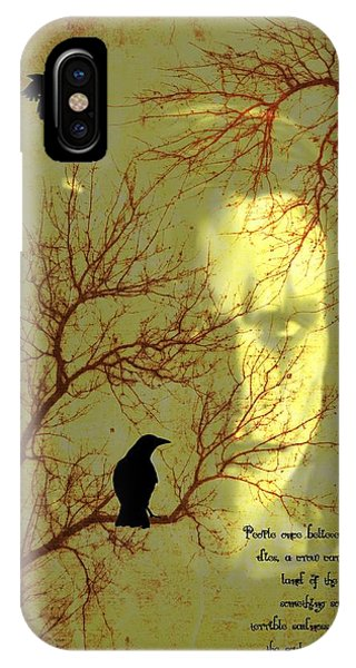 Gothic iPhone Case - The Crow by Dan Sproul