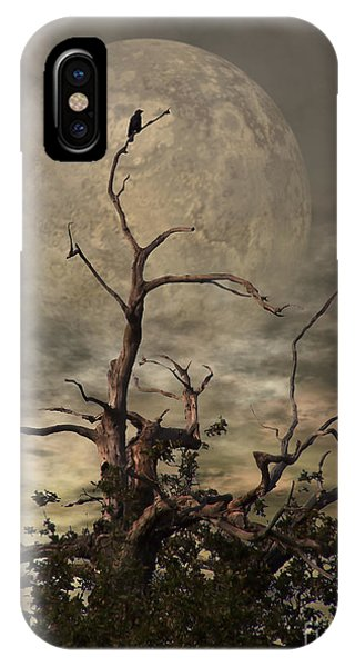 Death iPhone Case - The Crow Tree by Abbie Shores
