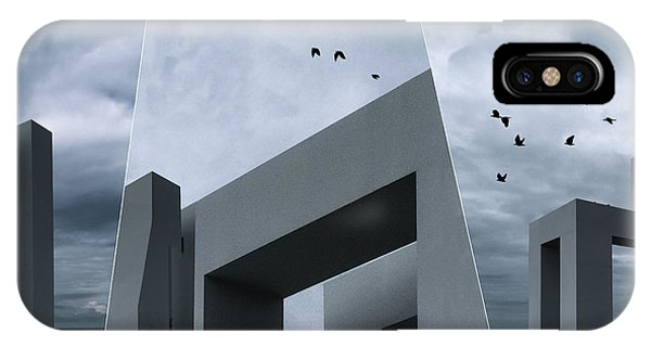 Crow iPhone Case - The Crows by Luc Vangindertael (lagrange)