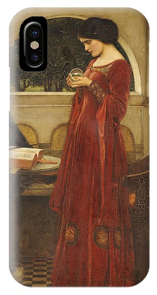 Pre-modern iPhone Case - The Crystal Ball, 1902 Oil On Canvas by John William Waterhouse