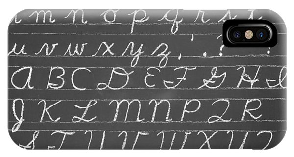 The Cursive Alphabet IPhone Case
