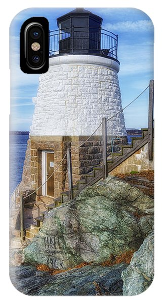 Navigation iPhone Case - Castle Hill The Cutest Lighthouse In The World by Joan Carroll