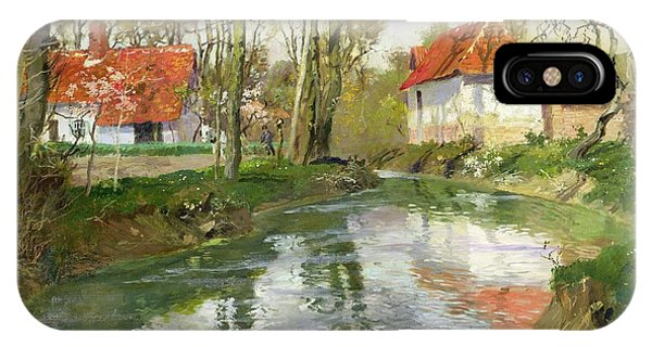 Neighborhood iPhone Case - The Dairy At Quimperle by Fritz Thaulow