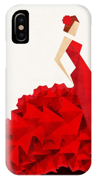 Illustration iPhone Case - The Dancer Flamenco by VessDSign