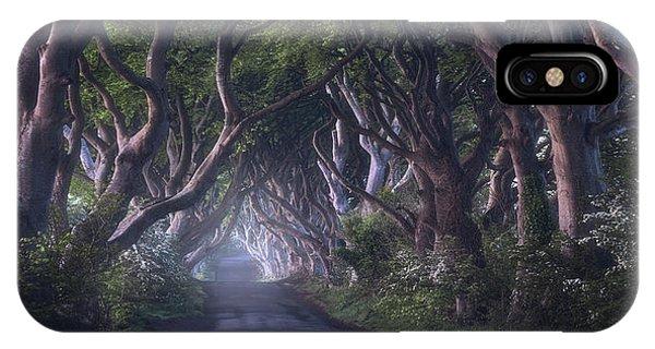 Ireland iPhone Case - The Dark Hedges by Daniel Fleischhacker