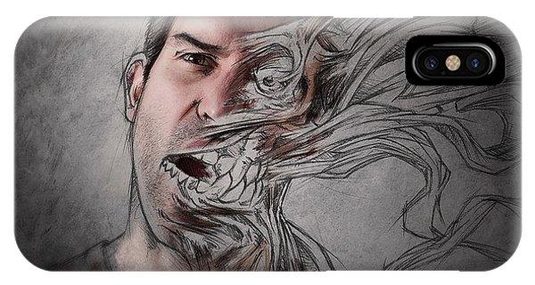 Sketch iPhone Case - The Dark Side Of My Sketch IIi by Sebastien Del Grosso