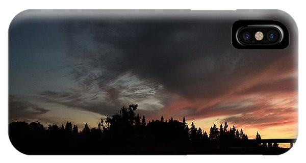 The Dark Side Of The Sunset IPhone Case