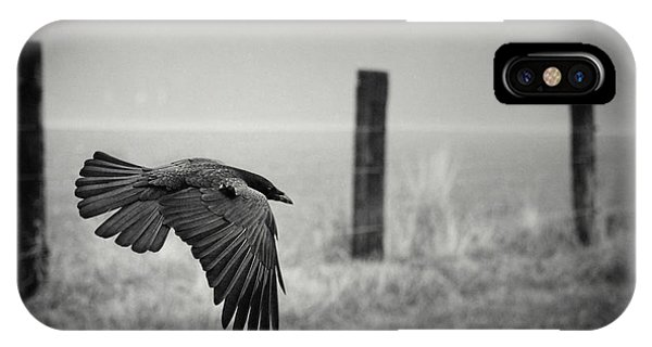 Crow iPhone Case - The Day Of The Raven by Holger Droste