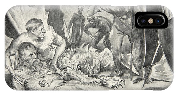 Bacon iPhone Case - The Death Of Beowulf by John Henry Frederick Bacon
