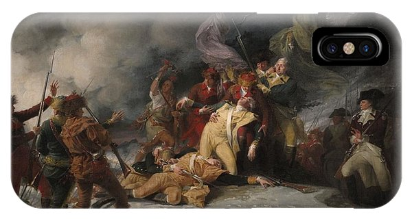 Revolutionary iPhone Case - The Death Of General Montgomery In The Attack On Quebec, December 31, 1775, 1786 Oil On Canvas by John Trumbull