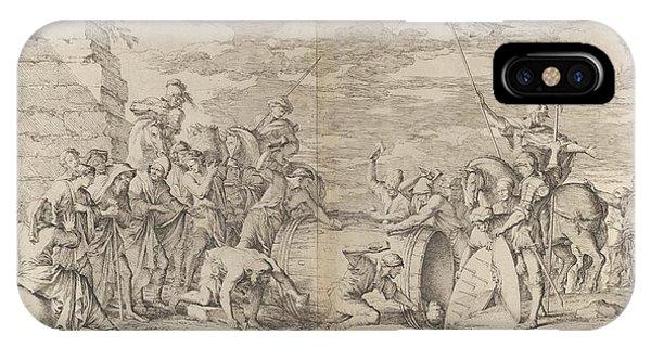 Rosa iPhone Case - The Death Of Marcus Atilius Regulus by Salvator Rosa