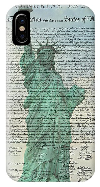 The Declaration Of Independence - Statue Of Liberty IPhone Case