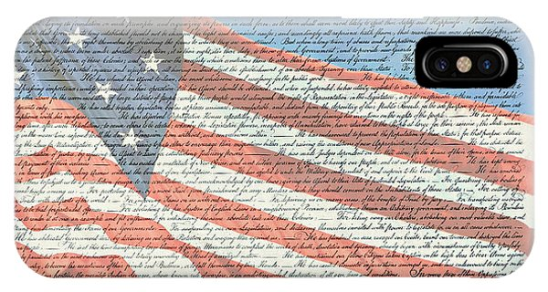 The Declaration Of Independence - Star-spangled Banner IPhone Case
