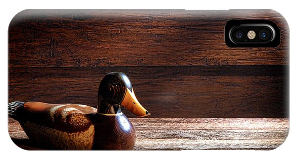 Wood Ducks iPhone Case - The Decoy by Olivier Le Queinec