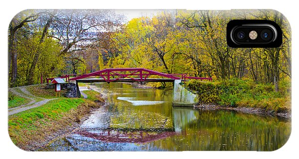The Delaware Canal Near New Hope Pa In Autumn IPhone Case