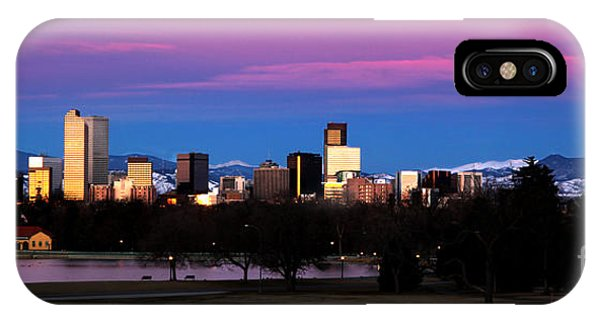 The Denver Skyline IPhone Case