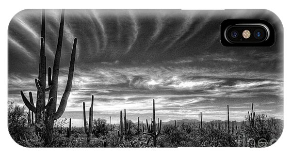 The Desert In Black And White IPhone Case