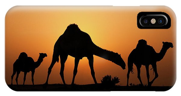 Orange Sunset iPhone Case - The Desert Ship by Ahmed Al-ibrahim