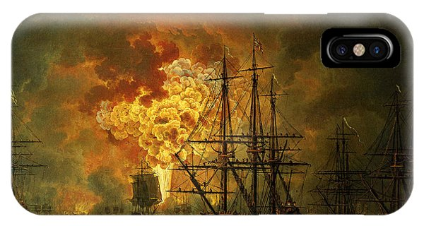 The Destruction Of The Turkish Fleet At The Bay Of Chesma IPhone Case
