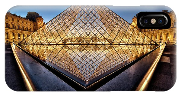 Louvre iPhone Case - The Diamond by Marc Pelissier