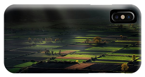 Sun Rays iPhone Case - The Divine Spotlights by Xenophon Mantinios