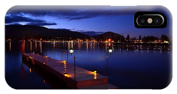 The Dock At Night- Skaha Lake 02-21-2014 IPhone Case