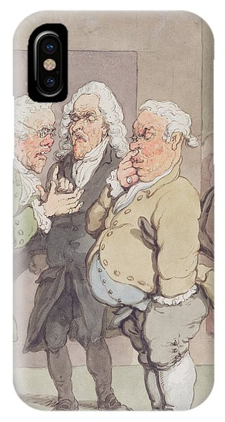 The Doctors Consultation, 1815-1820 Pen And Ink And Wc Over Graphite On Paper IPhone Case