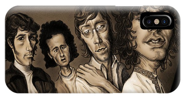 Caricature iPhone Case - The Doors by Andre Koekemoer